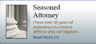 Read more about our experience in criminal defense and civil litigation.
